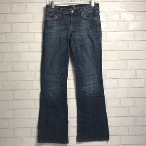 7 for all Mankind Flare 28 cotton Lycra Jeans